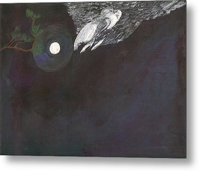Metal Print featuring the painting Misty Twinight by Kim Pate