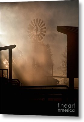 Metal Print featuring the photograph Misty Windmill by Steven Reed