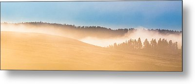 Metal Print featuring the photograph Misty Yellowstone   by Lars Lentz