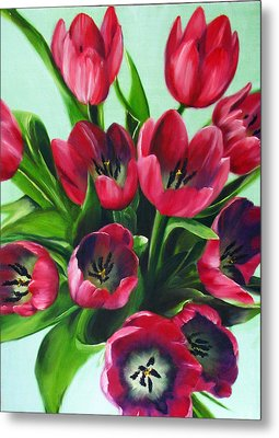 Mistys Tulips Metal Print by Sherry Robinson