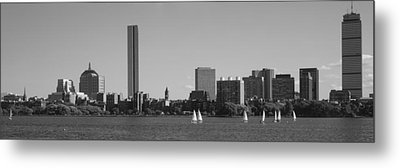 Mit Sailboats, Charles River, Boston Metal Print by Panoramic Images