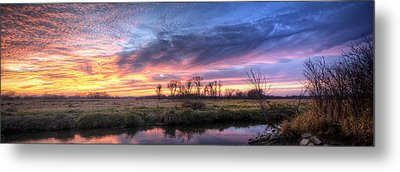 Mitchell Park Sunset Panorama Metal Print by Scott Norris