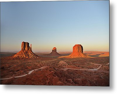 Mittens And Merrick Butte Monument Valley Metal Print by Christine Till