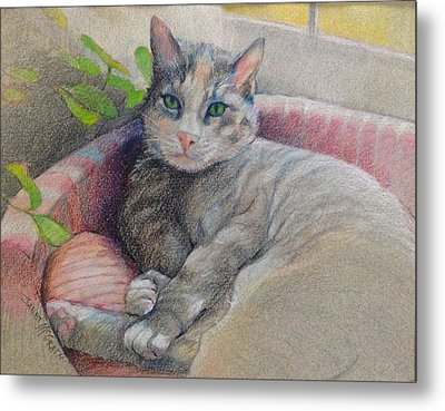 Mitzi Metal Print by Janet McGrath