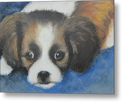Metal Print featuring the painting Mitzy by Jeanne Fischer