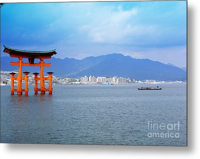 Metal Print featuring the photograph Miyajima Torii by Cassandra Buckley