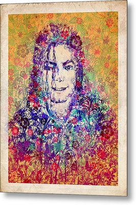Mj Floral Version 3 Metal Print