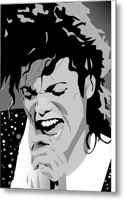 MJ Metal Print by Jayakrishnan R