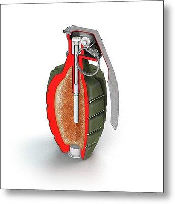 Mk 2 Grenade Metal Print by Mikkel Juul Jensen