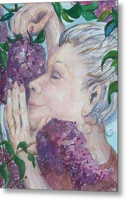 Mmmm Lilacs Metal Print