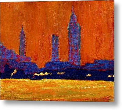 Mobile Skyline August Morning Light Metal Print