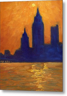 Mobile Skyline Late Evening Metal Print