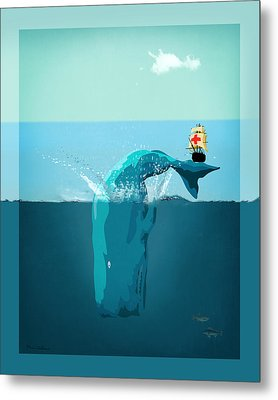 Moby Dick Metal Print by Mark Ashkenazi