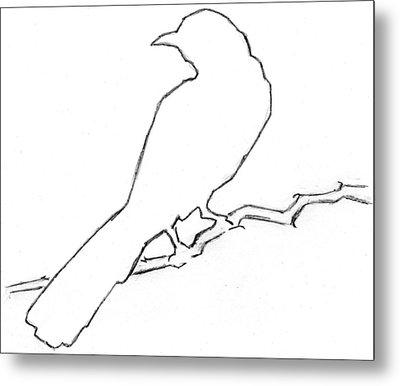 Mockingbird Metal Print by Pam Ferrara