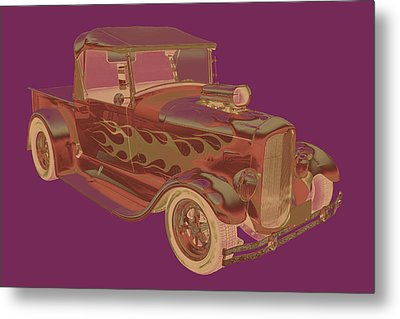 Model A Ford Pickup Hot Rod Pop Image Metal Print