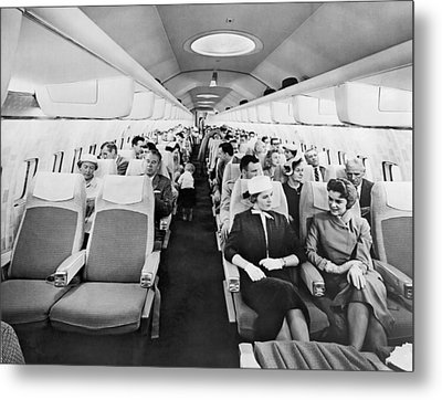 Model Of Boeing 707 Cabin Metal Print