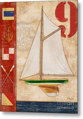 Model Yacht Collage I Metal Print by Paul Brent