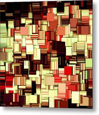 Modern Abstract Art Xvii Metal Print by Lourry Legarde