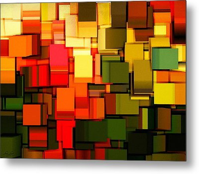 Modern Abstract I Metal Print by Lourry Legarde