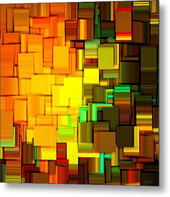 Modern Abstract IIi Metal Print by Lourry Legarde