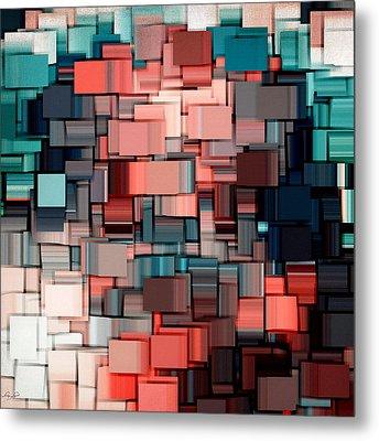 Modern Abstract Ix Metal Print by Lourry Legarde
