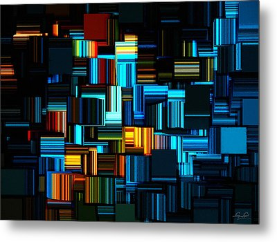 Modern Abstract V Metal Print by Lourry Legarde
