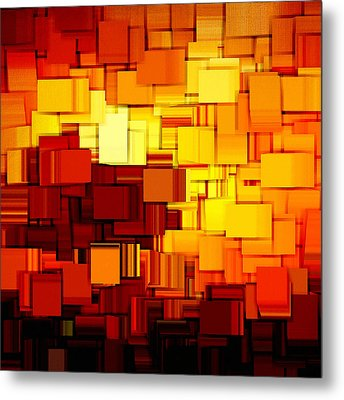Modern Abstract Xi Metal Print by Lourry Legarde