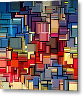 Modern Abstract Xii Metal Print by Lourry Legarde