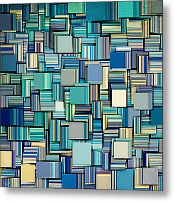 Modern Abstract Xxiv Metal Print by Lourry Legarde