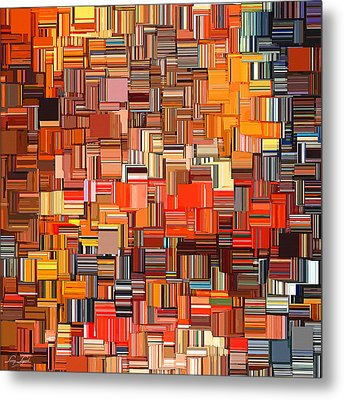Modern Abstract Xxxi Metal Print by Lourry Legarde