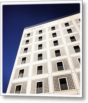 Modern Architecture City Library Stuttgart Metal Print