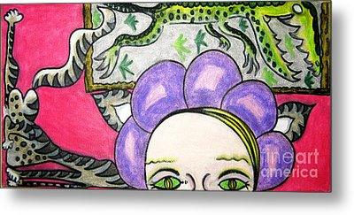 Modern Art Evolution Metal Print by Lois Picasso