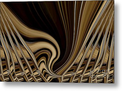 Modern Basket Weaving Metal Print by Marsha Heiken