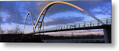 Modern Bridge Over A River, Infinity Metal Print by Panoramic Images