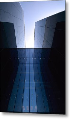 Modern Building Vertical Metal Print
