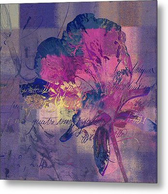 Modern Floral - 072083158 - Mp02b Metal Print by Variance Collections