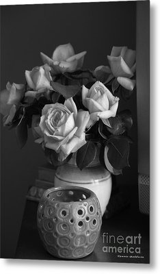Metal Print featuring the photograph Modern Still Life Bw by Tannis  Baldwin