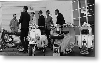 Mods And Suits Metal Print