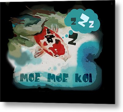 Moe Moe Koi Metal Print by Wendy Wiese