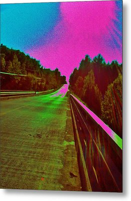 Moffit Bridge And Maple Ridge Rd. Metal Print by Daniel Thompson