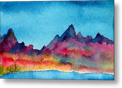 Mohave Mountains Metal Print by Anne Duke