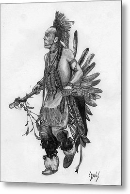Mohawk Dancer Metal Print by Lew Davis