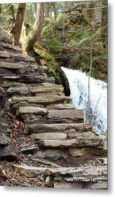 Mohawk Falls Steps Metal Print by Patti Whitten