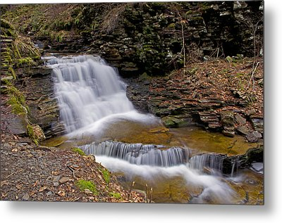 Mohican Falls In Spring Metal Print