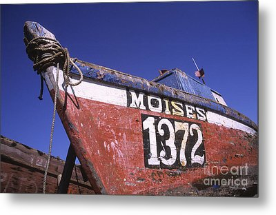 Moises The Fishing Boat Metal Print by James Brunker