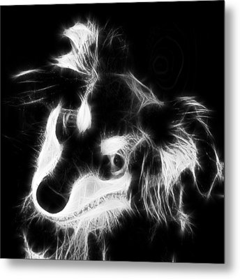 Moja - Black And White Metal Print by Marlene Watson