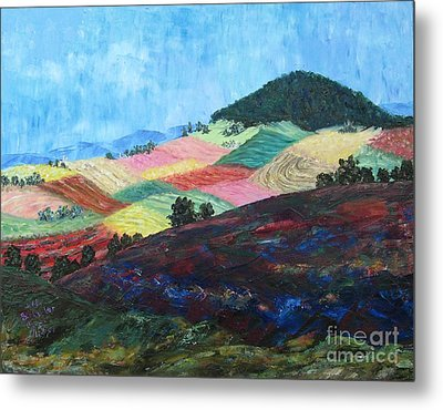 Mole Hill Patchwork - Sold Metal Print