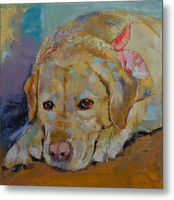 Yellow Labrador Retriever Metal Print by Michael Creese