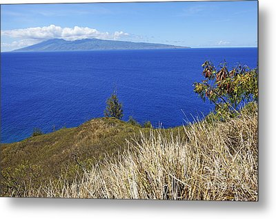 Molokai Island Viewed From Maui Island Metal Print