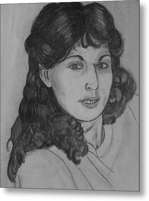 Metal Print featuring the drawing Mom 1988 by Justin Moore